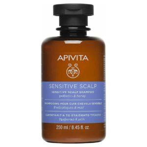 Σαμπουάν Apivita – Sensitive Scalp Σαμπουάν για το Ευαίσθητο Τριχωτό με Πρεβιοτικά & Μέλι 250ml