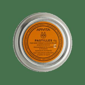 Άνοιξη Apivita – Παστίλιες Για Τον Πονεμένο Λαιμό Και το Βήχα με Γλυκόριζα & Πρόπολη 45g