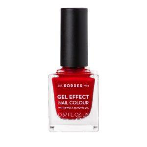 Γυναίκα Korres Gel Effect Βερνίκι Νυχιών με Αμυγδαλέλαιο Melted Rubies No54 – 11ml