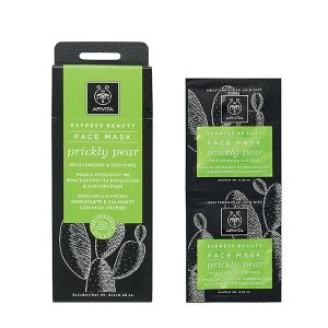 Woman Apivita Express Beauty Face Mask Prickly Pear – 2x8ml