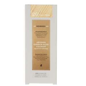 Γυναίκα Korres Abyssinia Superior Gloss Colorant Μόνιμη Βαφή Μαλλιών 12.0 Special Ξανθό – 50ml