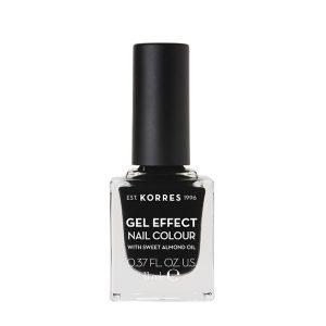 Γυναίκα Korres Gel Effect Βερνίκι Νυχιών με Αμυγδαλέλαιο Black No100 – 11ml