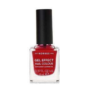 Γυναίκα Korres Gel Effect Βερνίκι Νυχιών με Αμυγδαλέλαιο Rosy Red No51 – 11ml