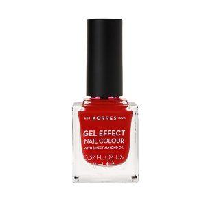 Γυναίκα Korres Gel Effect Βερνίκι Νυχιών με Αμυγδαλέλαιο Royal Red No53 – 11ml