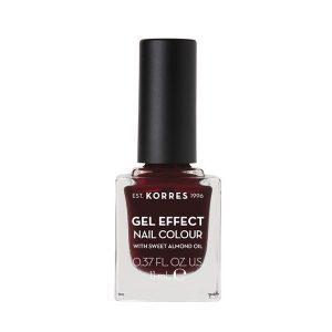 Γυναίκα Korres Gel Effect Βερνίκι Νυχιών με Αμυγδαλέλαιο Burgundy Red No57 – 11ml