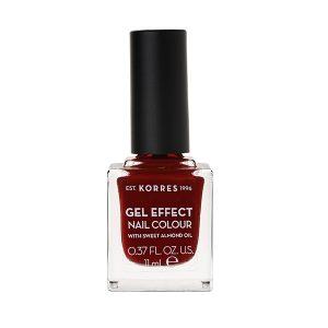 Γυναίκα Korres Gel Effect Βερνίκι Νυχιών με Αμυγδαλέλαιο Wine Red No59 – 11ml