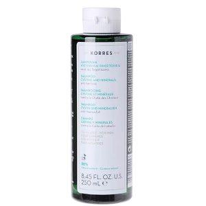 Άνδρας Korres Shampoo Hairloss Σαμπουάν Τριχόπτωσης Κυστίνη & Ιχνοστοιχεία Για Τους Άντρες – 250ml.