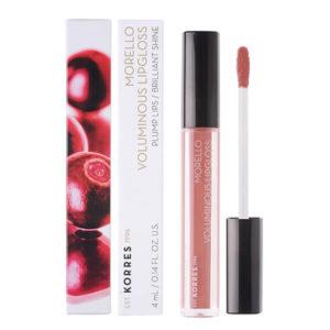 Γυναίκα Korres Morello Voluminous Lipgloss με Εξαιρετική Λάμψη & Γεμάτο Χρώμα No04 Honey Nude 4ml