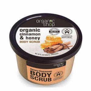 Γυναίκα Natura Siberica – Organic Shop Body Scrub Honey & Cinnamon – Απολεπιστικό Σώματος με Κανέλα & Μέλι – 250ml.
