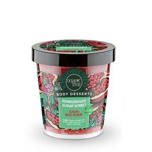 Γυναίκα Natura Siberica – Organic Shop Body Desserts Pomegranate Sugar Sorbet – Υγρό Απολεπιστικό Σώματος με Ρόδι – 450ml.