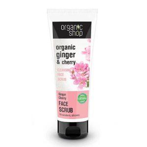 Περιποίηση Προσώπου Natura Siberica Organic Shop Απολεπιστικό Προσώπου για Καθαρισμό Ginger Cherry – 75ml
