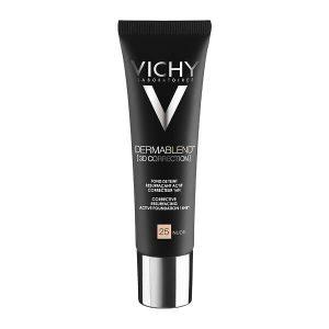 Γυναίκα Vichy Dermablend 3D Correction SPF25 Nude 25 – Make up για Λιπαρά ή με Τάση για Ακμή Δέρματα – 30ml