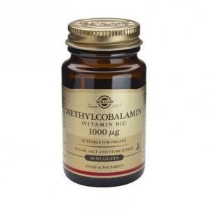 Βιταμίνες Solgar – Βιταμίνη Β12 σε Μορφή Μεθυλοκοβαλαμίνης 1000mg – Απαραίτητη σε Έλλειψη Βιταμίνης Β12 σε Ηλικιωμένους Φυτοφάγους και Άτομα με Πεπτικές Διαταραχές – 30 Υπογλώσσια Δισκία