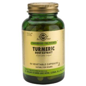 Βότανα Solgar – Εκχύλισμα Υψηλής Ισχύος 93% Κουρκουμίνη – Ισχυρό Αντιοξειδωτικό που Βοηθά στην Πέψη των Τροφών – 60 veg.caps