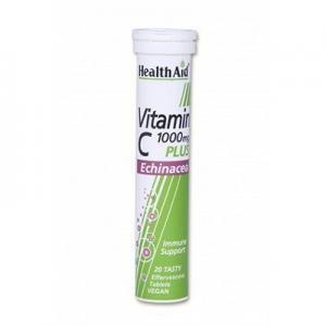 4Εποχές Health Aid Βιταμίνη C 1000mg με Εχινάκεια & Γεύση Λεμόνι 20 Αναβράζοντα Δισκία