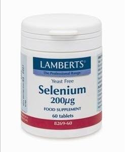 Διατροφή & Υγεία Lamberts – Οργανική μορφή Σεληνίου 200mg – 60tabs
