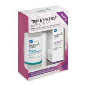 Περιποίηση Προσώπου Medisei – Panthenol Extra Πακέτο με Triple Defense Eye Cream 25ml & Δώρο Panthenol Extra Micellar True Cleanser 3 in 1 – 500ml