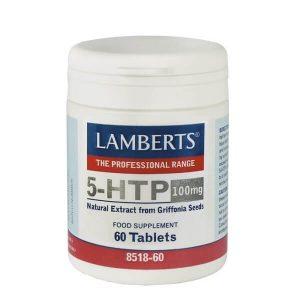 Αμινοξέα Lamberts – Αμινοξύ Τρυπτοφάνη σε Μορφή 5-HTP 100mg – 60tabs