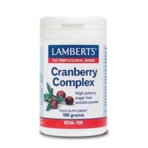 Ανοσοποιητικό Lamberts – Εκχύλισμα από Καρπούς Κράνμπερρυ σε Σκόνη – 100gr