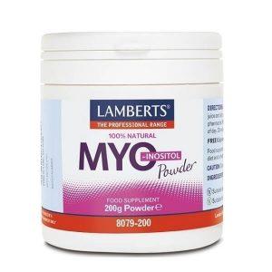 Βιταμίνες Lamberts – Συμπλήρωμα Μυοϊνοσιτόλης σε Σκόνη – 200gr