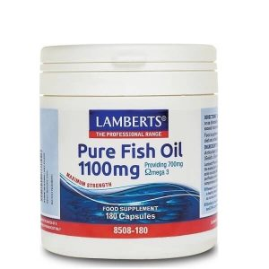 Άθληση - Κακώσεις Lamberts – Συμπλήρωμα Διατροφής Ιχθυέλαιο Ω3 1100mg – 180tabs