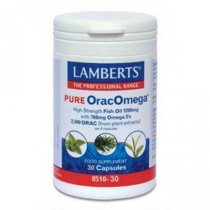 Άθληση - Κακώσεις Lamberts – Ωμέγα 3 λιπαρών οξέων & Φυτικά Αντιοξειδωτικά 760mg – 30caps