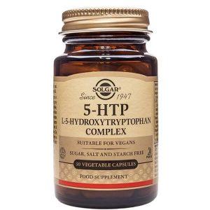 Βιταμίνες Solgar – 5-HTP Yδροξυλιωμένη Tρυπτοφάνη 100mg Συμπλήρωμα Διατροφής Απαραίτητο για την Καλή Υγεία του Εγκεφάλου 30 veg. caps