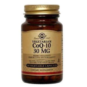 Αντιμετώπιση Solgar – Συμπλήρωμα Διατροφής με Συνένζυμο Q10 30mg – 30veg.caps