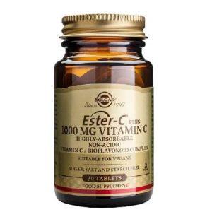 Βιταμίνες Solgar – Συμπλήρωμα Διατροφής με Πρωτοποριακή μη Όξινη Μορφή Βιταμίνης C 1000mg – 30tabs