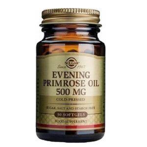 Βότανα Solgar – Έλαιο Νυχτολούλουδου 500mg – 30 Μαλακές Κάψουλες