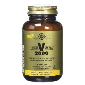 Διατροφή & Υγεία Solgar – Πολυβιταμίνη Υψηλής Ισχύος με Αμινοξέα Πεπτικά Ένζυμα Σούπερ Τροφές και Βιοφλαβονοειδή – 30caps