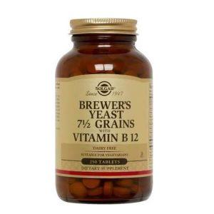 Διατροφή & Υγεία Solgar – Συμπλήρωμα Διατροφής Μαγιά Μπύρας Με Βιταμίνη Β12 – 250tabs