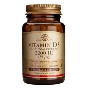 Ανοσοποιητικό Solgar – Συμπλήρωμα Διατροφής Βιταμίνη D 2200IU 55mg – 50veg.caps