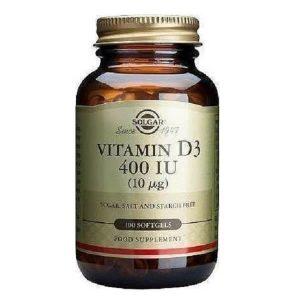 Βιταμίνες Solgar – Συμπλήρωμα Διατροφής Βιταμίνη D 400IU 10mg – 100softgels