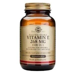 Αντιμετώπιση Solgar – Συμπλήρωμα Διατροφής Βιταμίνης Ε 268mg 400IU – 50softgels