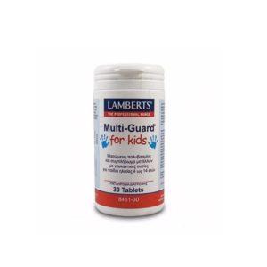 Παιδικές Βιταμίνες Lamberts – Πολυβιταμινούχα Φόρμουλα για Παιδιά 4-14 Ετών – 30tabs