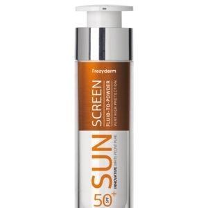 Αντηλιακά Προσώπου Frezyderm – Sun Screen Cream Fluid to Powder SPF50+ Αντηλιακό Προσώπου με Αίσθηση Πούδρας 50ml