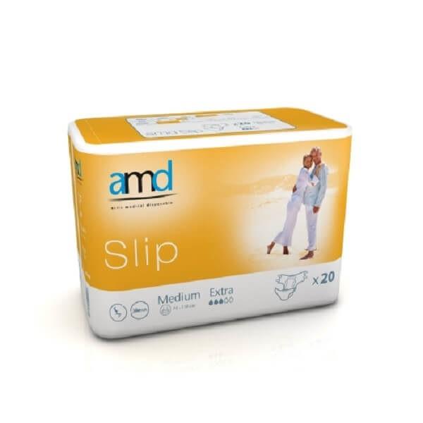 Πάνες Slip Ημέρας AMD – Αυτοκόλλητη Πάνα Ημέρας Medium Extra 20τμχ REF. 11023000