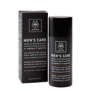 Άνδρας Apivita Men's Care Κρέμα για Πρόσωπο & Μάτια κατά των ρυτίδων με Κάρδαμο & Πρόπολη 50ml