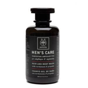 Man Apivita Men's Care Hair and Body Wash with Cardamom & Propolis – 250ml