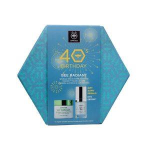 Αντιγήρανση - Σύσφιξη Apivita – 40's Birthday Set Bee Radiant Μείωσης Των Ρυτίδων & Λάμψης Ελαφριάς Υφής 50ml & Δώρο Eye Serum 5-Action 15ml