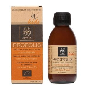 Sore Throat Apivita Propolis Kids Organic Syrup For The Throat With Honey & Thyme – 150ml