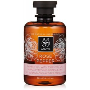 Woman Apivita Rose Pepper Shower Gel With Essential Oils – 300ml