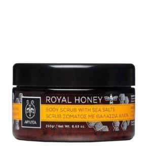Απολέπιση - Καθαρισμός Σώματος Apivita Royal Honey Scrub Σώματος με Θαλάσσια Άλατα – 200ml