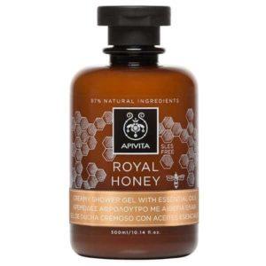 Γυναίκα Apivita Royal Honey Κρεμώδες Αφρόλουτρο με Αιθέρια Έλαια – 300ml
