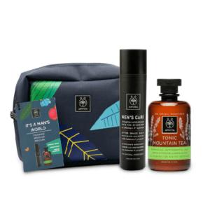 Man Apivita Promo It' s A Man's World After Shave Balm – 100ml & Tonic Mountain Tea Shower Gel – 300ml