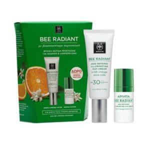 Woman Apivita Bee Radiant Age Defence Illuminating Day Cream Spf30 – 40ml & Bee Radiant Eye Cream – 15ml