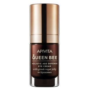 Woman Apivita Queen Bee Holistic Age Defense Eye Cream with Royal Jelly & Liposomes SPF20 – 15ml