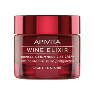 Περιποίηση Προσώπου Apivita Wine Elixir Αντιρυτιδική Κρέμα για Σύσφιξη & Lifting Ελαφριάς Υφής με Πολυφαινόλες από Αμπέλια Σαντορίνης 50ml