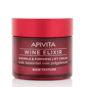Γυναίκα Apivita Wine Elixir Αντιρυτιδική Κρέμα για Σύσφιξη & Lifting Πλούσιας Υφής 50ml